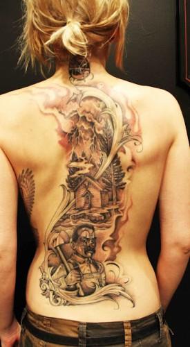 Новые татуировки Skylar Grey