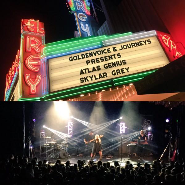 Skylar Grey выступает в в El Rey Theatre в Лос-Анджелесе 30 апреля 2016